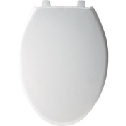 Bemis B1900SS000 Elongated Closed Front Whisper Close Toilet Seat with Self-Sustaining Hinges in White