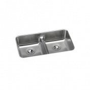 Elkay ELUHAQD3218 Gourmet Undermount 80cm . x 46cm - 1.3cm . Dual Basin Kitchen Sink