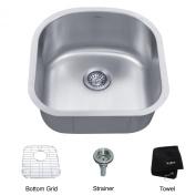 Kraus 6m x 0m x 6m x 0m Undermount Single Bowl Kitchen Sink