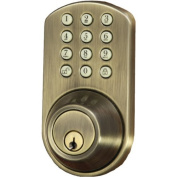 Morning Industry Inc HF-01AQ Touchpad Electronic Dead Bolt, Antique Brass