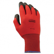 North Safety NorthFlex Red Foamed PVC Gloves, Red/Black, Size 9L
