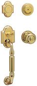 Baldwin Canterbury Sectional Trim Full Dummy Handle Set in Lifetime Polished Brass