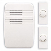 Heath Zenith Wireless Plug-In Door Chime Kit with 2 Push Buttons, White
