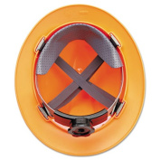 MSA V-Gard Hard Hats w/Ratchet Suspension, Standard Size 6 1/2 8, High-Viz Orange
