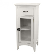 Elegant Home Fashions 7053 Madison Avenue Floor Cabinet with 1 Door and 1 Drawer- Dark