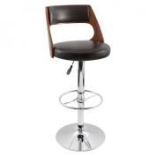 Lumisource BS-JY-PRS CH+BN Presta Bar Stool Cherry Wood