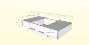 MFI Nexera Distribution 220733 Coffee Table with Hidden Storage - White & Ebony