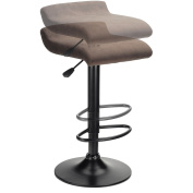 Winsome 93189 Marni Air Lift Stool- Micro Fiber Seat Top - Charcoal and Black Finish