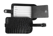 Dacasso 2000 Series Crocodile Embossed Leather Luggage Tag