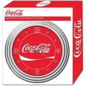 30cm Coca-Cola Coke Clock with Chrome Finish