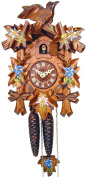 Alexander Taron 522/9 Wind-up Cuckoo Clock in Walnut Finish with Blue Flowers
