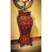 Design Toscano Villandry Wooden Bombe Decorative Storage Cabinet