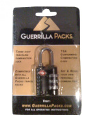 Guerrilla Packs TSA Approved Travel Combination Lock