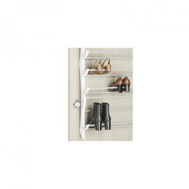 Whitmor 36 Pair Over the Door Resin Shoe Rack, White