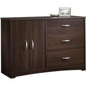 Sauder Beginnings 3-Drawer Dresser, Cinnamon Cherry Finish