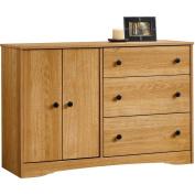 Sauder Beginnings 3-Drawer Dresser, Highland Oak Finish