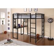 DHP Abode Full Metal Loft Bed over Workstation Desk, Multiple Colours
