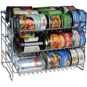 Atlantic 3-Tier Can Rack, Silver