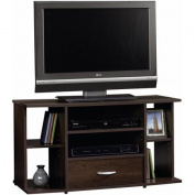 Sauder Beginnings Cinnamon Cherry Panel TV Stand for TVs up to 106.7cm
