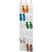 Honey-Can-Do 24-Pocket Over-Door PEVA Shoe Rack, White
