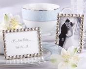 Silver Pearls Mini Frame Placecard Holder