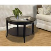 Winsome 92219 Genoa Coffee Table with Glass Top Dark Espresso