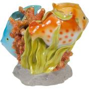 Creative Bath Rainbow Fish Resin Tooth Brush Holder, Multi-Colour