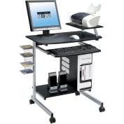 Techni Mobili Rolling Computer Desk, Graphite