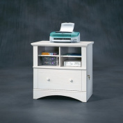 Sauder Harbour View Printer Stand and File Cabinet, White