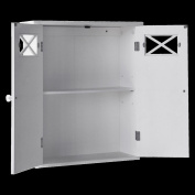 Elite 6810 Dawson Wall Cabinet With Two Doors- White