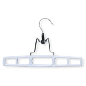 Honey-Can-Do HNGZ01326 12-Pack Plastic Pant Hanger With Clamp - White