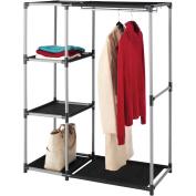 Whitmor Resin Garment Rack and Shelves, Black/Grey