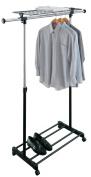 Organize It All 1703 Adjustable Garment Rack with Shelf
