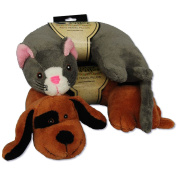 Set of 2 Kids Travel Pillows, Dog and Cat