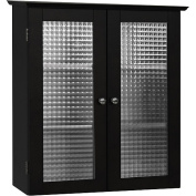 Elegant Home Fashions 6209 Chesterfield Wall Cabinet 2 Glass Doors - Espresso