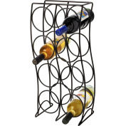 Spectrum Curve 8-Bottle Wine Rack, Black