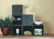 Foremost 327606 Modular Open Cube Storage System, Black