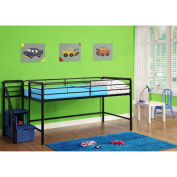DHP Junior Twin Loft Bed with Storage Steps, Multiple Colours