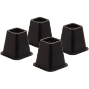 Honey-Can-Do STO-01136 Bed Risers- 4 Pack Black
