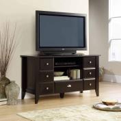 Sauder Shoal Creek Jamocha Wood Entertainment Credenza, for TVs up to 134.6cm