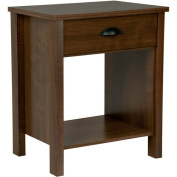 Nouvelle Nightstand with Drawer, Walnut