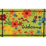 """Masterpiece Wildflower """"Welcome"""" Doormat"""