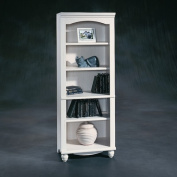 Sauder Harbour View 5-Shelf Library Bookcase, White