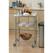 Seville Professional Chef's Table With Stainless Steel Table Top