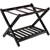 Winsome Reese Wooden Luggage Rack with Shelf, Espresso