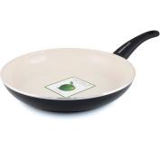 GreenLife 25.4cm Non-Stick Soft-Grip Open Fry Pan, Cream