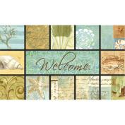 Masterpiece Seashell Collage Doormat