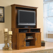 Sauder Harvest Mill Entertainment Centre for TVs up to 99.1cm , Abbey Oak Finish