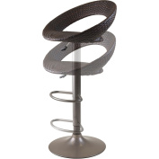 Winsome Bali 60cm - 80cm Adjustable Air Lift Stool with Woven Seat in Rattan