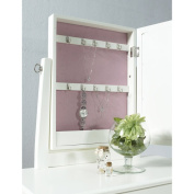 Youth Vanity, Bench and Mirror Set with Jewellery Storage, White